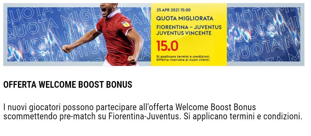 promozione fiorentina-juventus